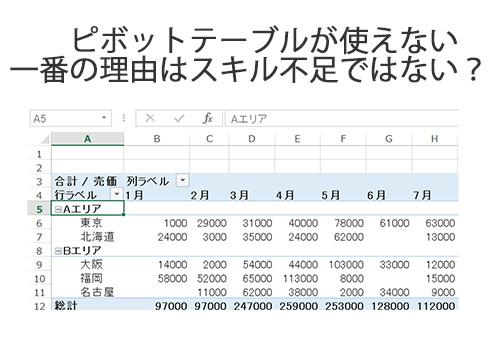 ピボットテーブル Excel 使いこなす